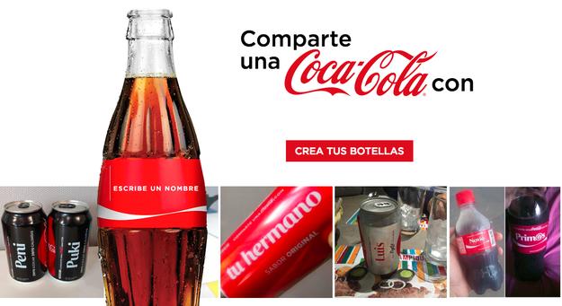 Coca-Cola lanzó un sitio que te permite crear una Coca con prácticamente cualquier nombre.