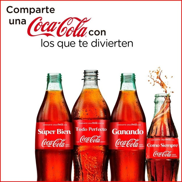 Si tienes una frase emblemática, ahora también la puedes representar en una Coca.