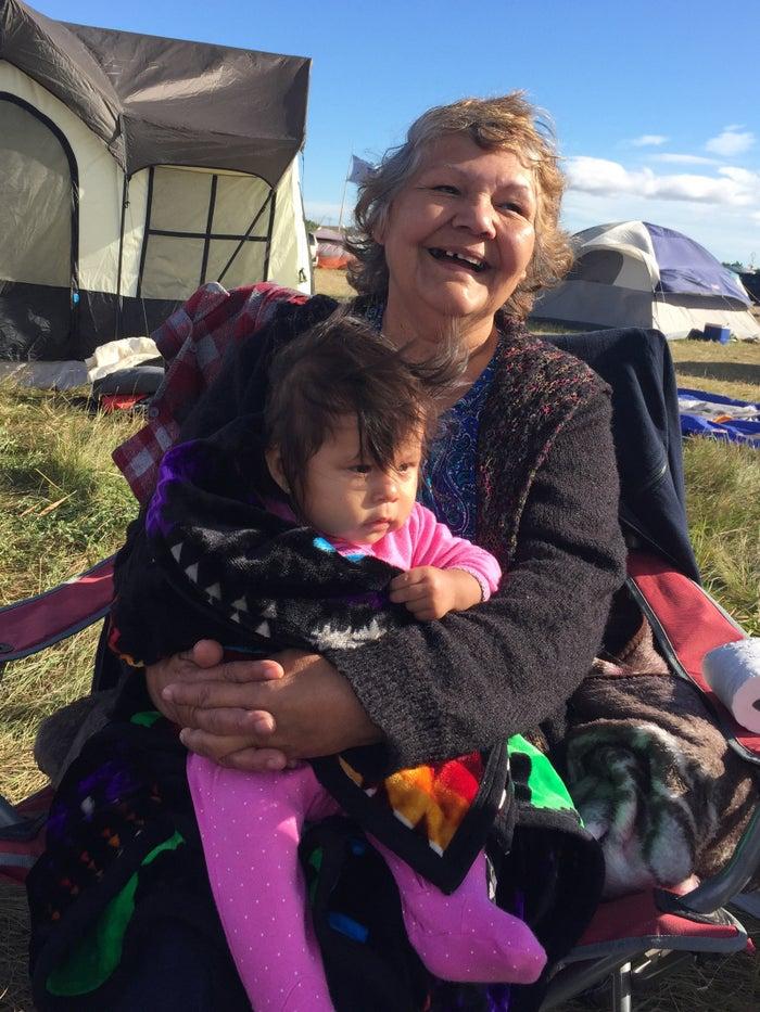 Grandma Bear Woman and Braiylee.
