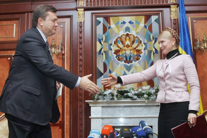 """Yanukovych had former prime minisiter Yulia Tymoshenko, a heroine of Ukraine's Orange Revolution, jailed after she was convicted in 2009 over a gas deal she struck with Russia that was seen as """"criminally exceeding her powers."""" She served three years of her seven-year sentence."""