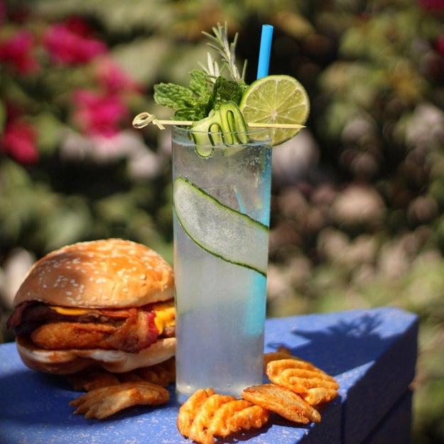 "The ""El Jaibolero"" + Carl's Jr.'s Double Western Bacon Cheeseburger and Crisscut fries:"