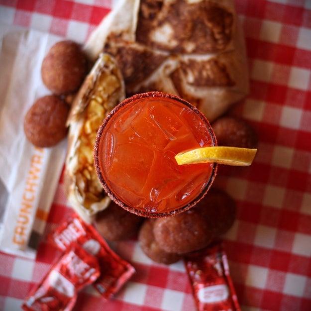 "The ""Mi-Su-Lada"" + a Taco Bell Breakfast Crunchwrap and Cinnabon Delights:"