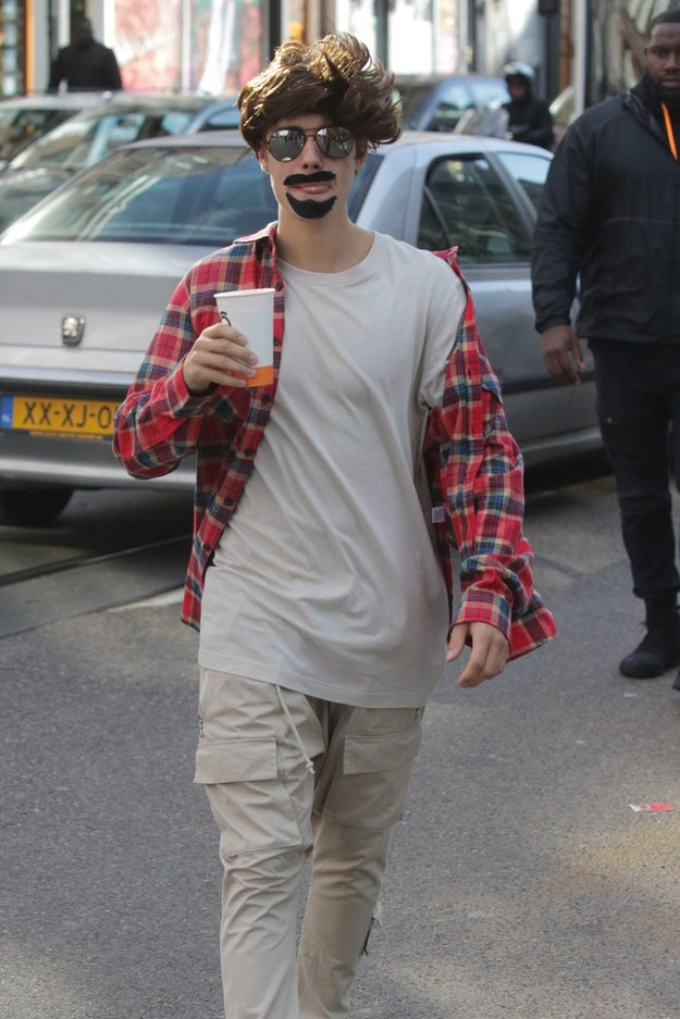 Justin Bieber Wore A Fake Moustache And Wig As A Disguise