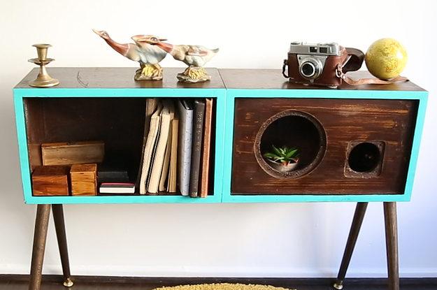 Upcycle Old Speakers Into A Stylish Table With This Mod Diy