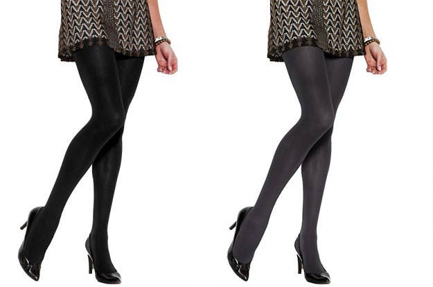 d6e49c422d A two-pack of trusty opaque tights will turn short outfits SFW.
