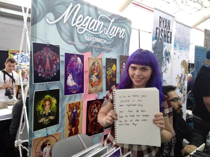 Megan Lara is a Chicago-based illustrator who creates pop culture pieces and has made work for ThinkGeek, Threadless, Mighty Fine, Teefury, the Yetee, and Dark Horse comics. Check out her work on Facebook and Tumblr.