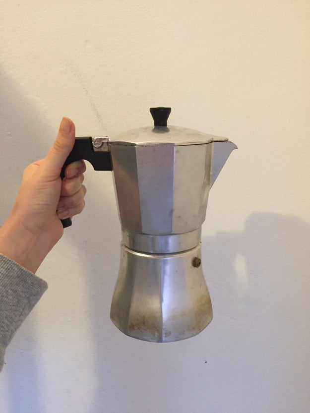 Make your morning coffee at home instead of buying it from a café.