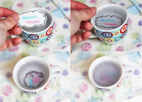 Write down your worries, then drop them into water and watch them dissolve away. By Motivational Tattoo, £5.49.