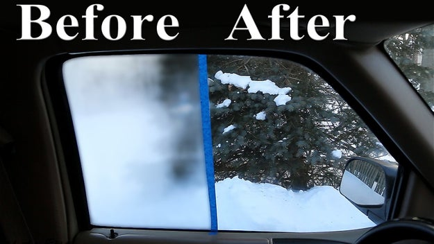 Rub shaving cream over your car windows and bathroom mirrors to make them fog-free.
