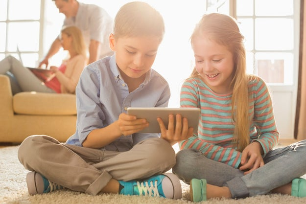 O tablet das crianças de hoje: