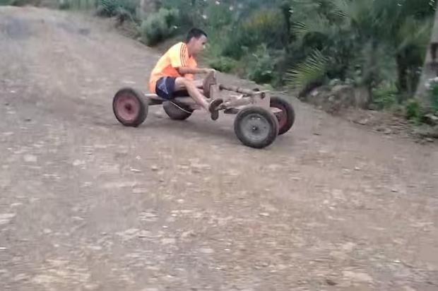O seu meio de transporte na infância:
