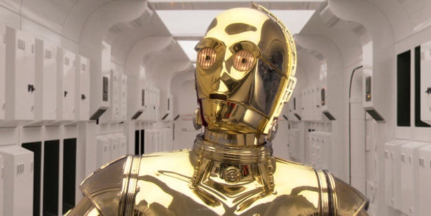 C-3PO isn't all gold.