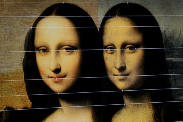 People think the Mona Lisa is smiling now, but she used to be emotionless.
