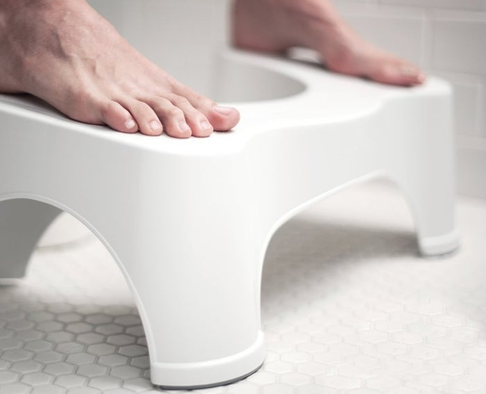 """Its simple design situates your body so that it's in its most efficient position to help you go. Promising Review: """"Oh my god! The things that are coming out of my body! I was one of those people who used to check out for a half hour or so when I had to drop a deuce - no more. This thing is like a catapult for my poo - and the sheer quantity of poo that launches, torpedo-like from me is really pretty remarkable. I'm not sure where it all went before but it wasn't coming out like this - that's for sure. It takes a minute to get used to the position (think of a baseball catcher - you are essentially hugging your knees with this thing). But the sheer glory of seeing everything I have eaten in the last ten years instantly leave my body is really something. I've even been texting friends tales of the results with things like 'I think I've just lost 15 pounds in one pooping and now my pants are loose.'"""" —Bob S. Price: $25"""