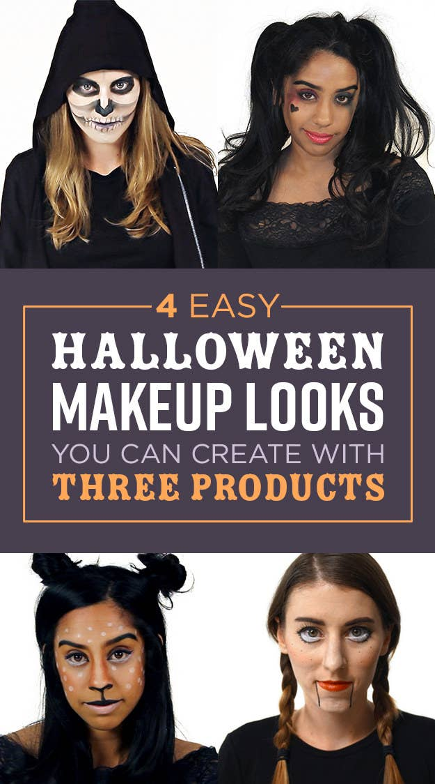 4 Easy Halloween Makeup Looks Every Lazy Girl Will Want To Try