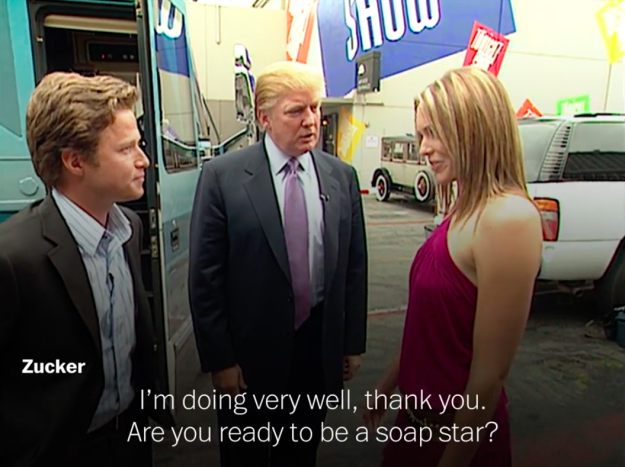 Donald Trump in a screenshot from video obtained by the Washington Post.