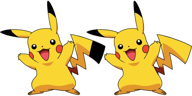 The tip of Pikachu's tail isn't black.