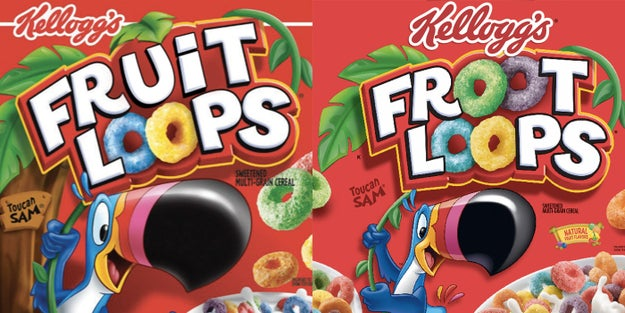 "Fruit Loops is actually spelled ""Froot Loops."""