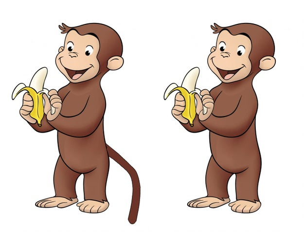 Curious George never had a tail.