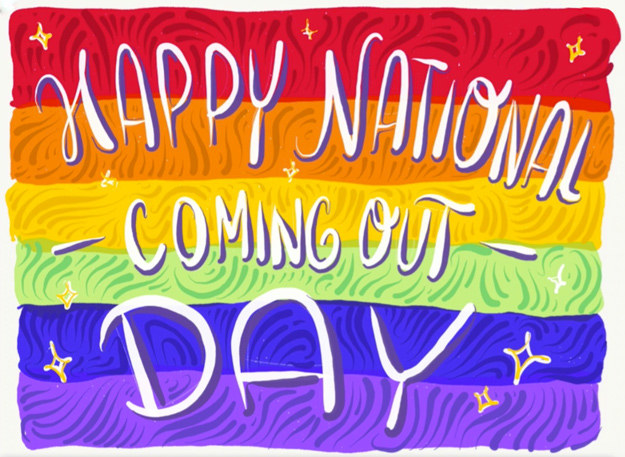 Today in honor of National Coming Out Day we drew some encouraging and motivational messages for our Facebook Live viewers.
