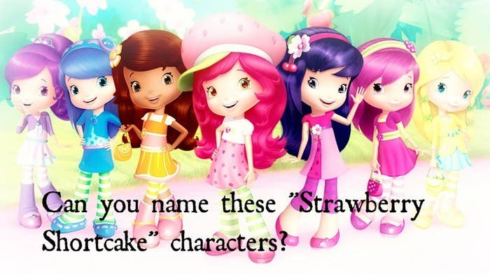 Can You Name These Strawberry Shortcake Characters