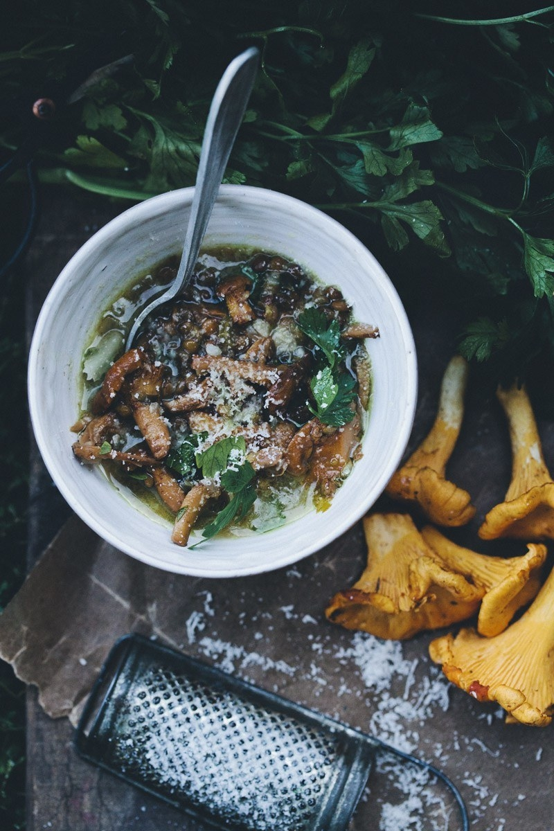 Mushroom and Lentil Soup
