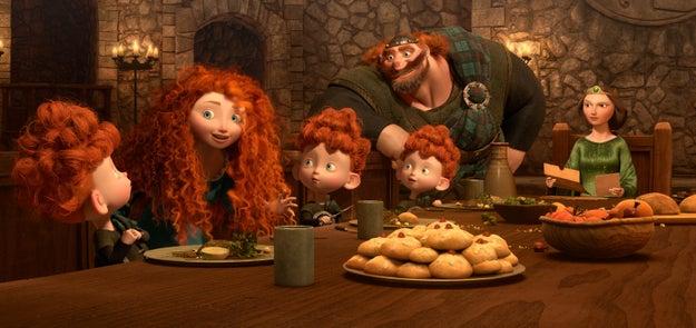 Mérida es la única princesa con hermanos.