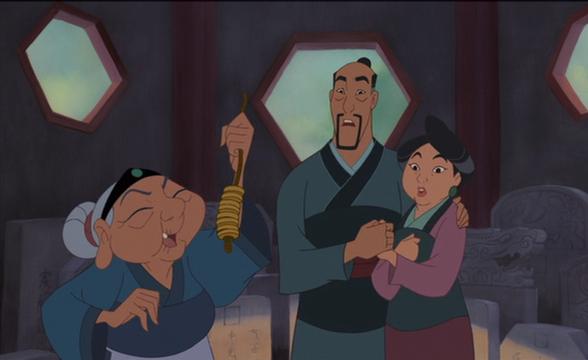 Mulán, Aurora, Rapunzel y Mérida son las únicas princesas que tienen a sus dos padres.