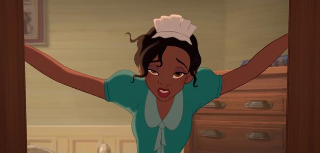 Tiana es la única princesa que tiene un trabajo.