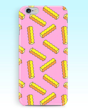 An adorable and very geo fries phone case.