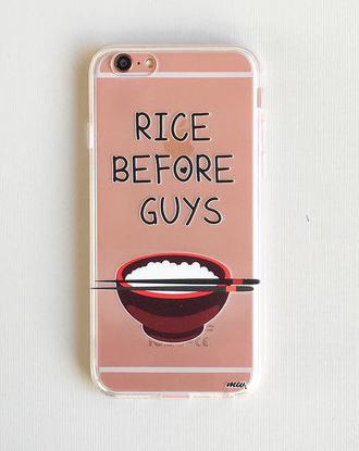A phone case to prove that rice = life.