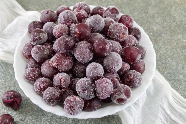 Frozen grapes.
