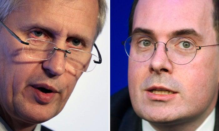 FCA boss Martin Wheatley (left) passed information to John Kingman at the Treasury.