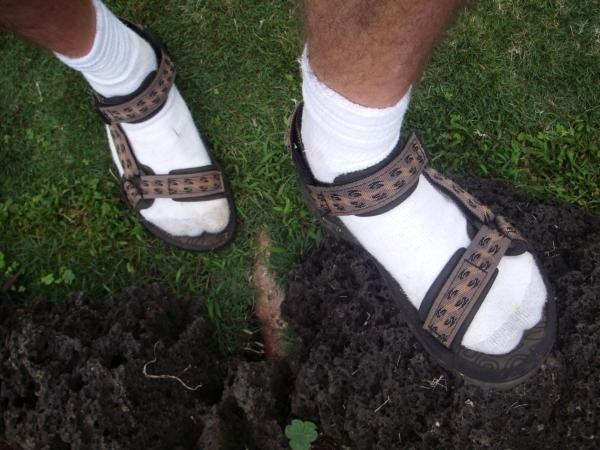 If you're wearing sandals, it's because you want your feet to breathe. Socks do not allow your feet to breathe! So it literally does not make sense to wear socks with sandals, from a purely logical standpoint.