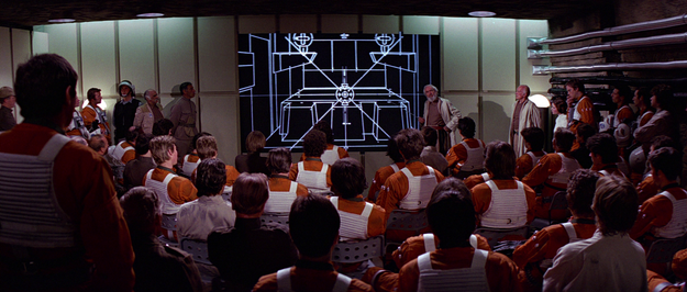 Remember the big speech before Luke and the Rebellion attack the Death Star at the end of A New Hope?