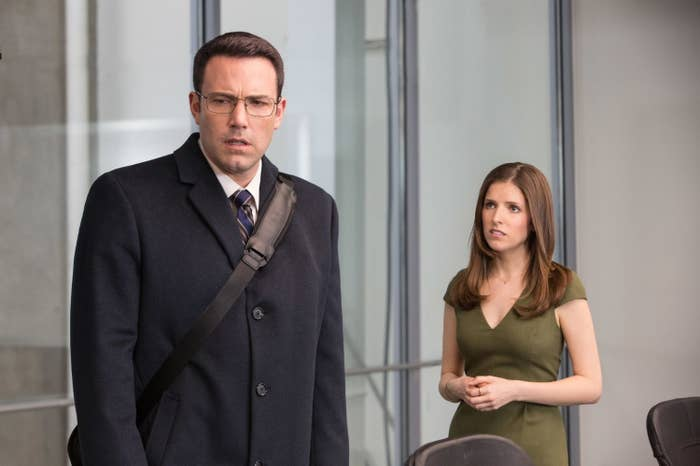 Ben Affleck and Anna Kendrick in The Accountant.