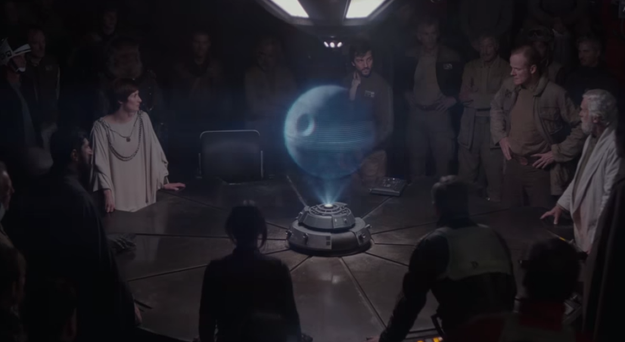 Rogue One tells the story of a band of rebels who manage to steal the plans for the Death Star, the iconic space station that's capable of destroying entire planets.