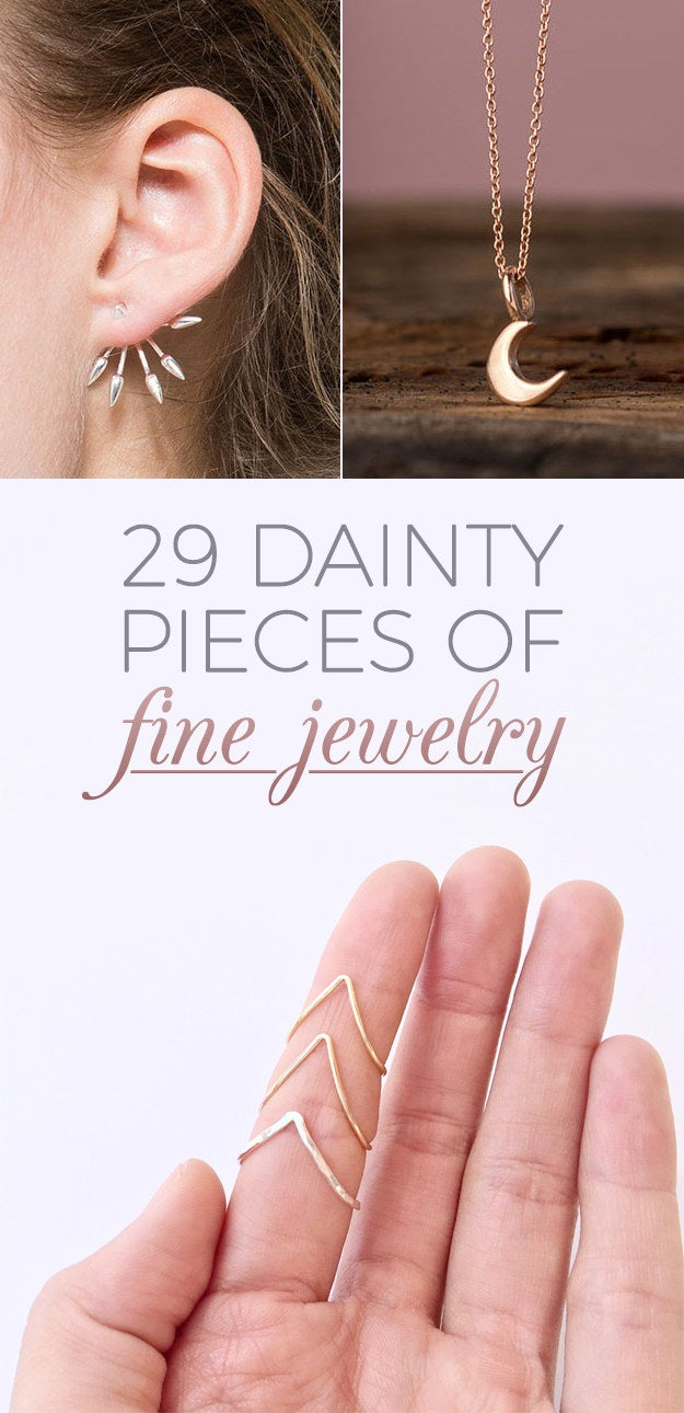 29 Tiny Pieces Of Fine Jewelry You Ll Fall In Love With