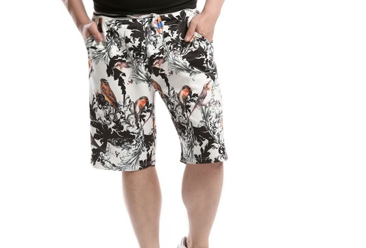 Baggy swim trunks