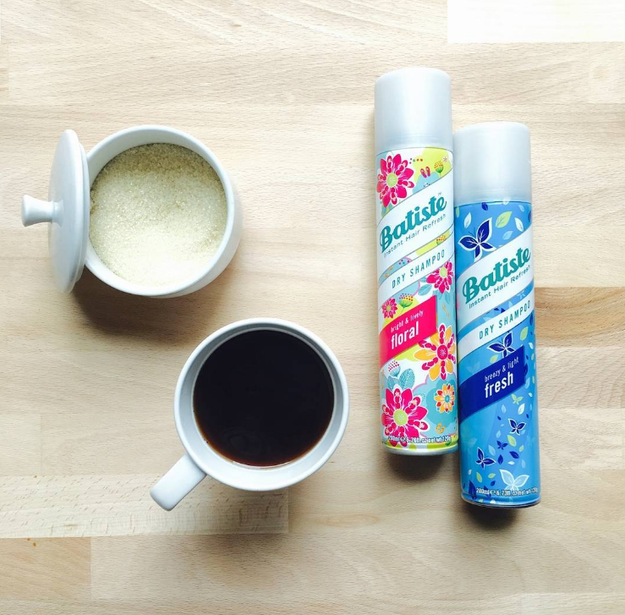 This dry shampoo so you can get out the door when you're in a rush.