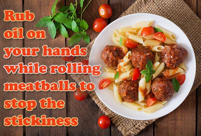 Laziness Factor = Make perfect meatballs + literally no one likes having sticky hands.Full hack here