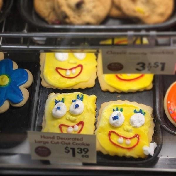 These pretty terrifying SpongeBob cookies.