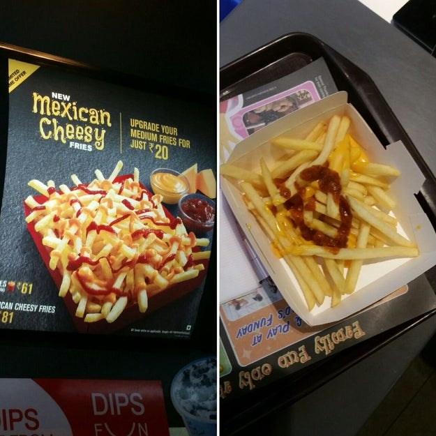 Ces frites.