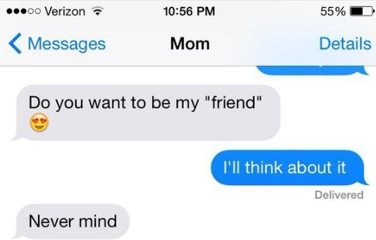 Priceless friendships with mom: