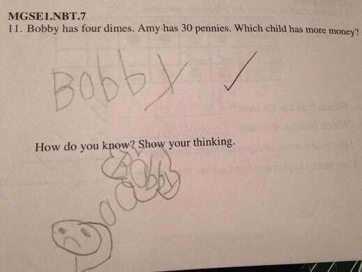 This student, who put some real thought into his answer.