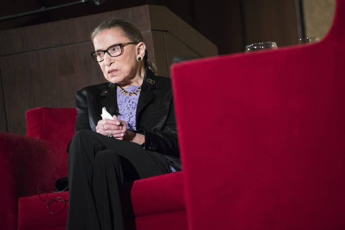 Supreme Court Justice, Ruth Bader Ginsburg, speaks during the keynote address or the State Bar of New Mexico's Annual Meeting  in Pojoaque, N.M., Friday, Aug. 19, 2016. (AP Photo/Craig Fritz)