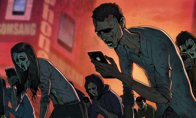 A animação foi feita por Steve Cutts, artista de Londres.