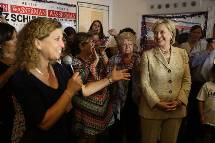 Former DNC Debbie Wasserman Schultz introduces Democratic presidential nominee Hillary Clinton