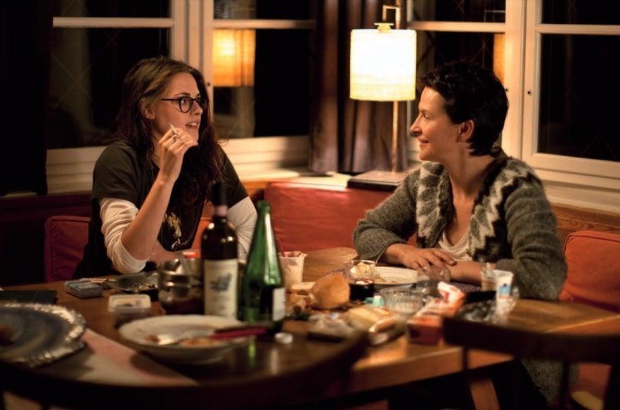 Kristen Stewart and Juliette Binoche in Clouds of Sils Maria.