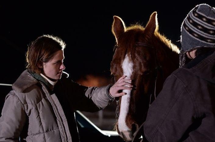 Kristen Stewart and Lily Gladstone in Certain Women.